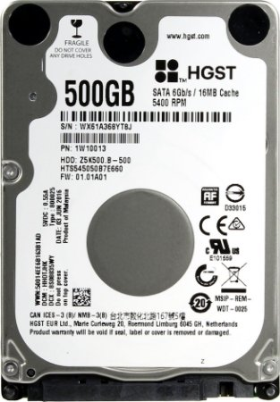 HD SATA3 Notebook Hitachi 500Gb 16MB 5400Rpm Travelstar Z5K500.B