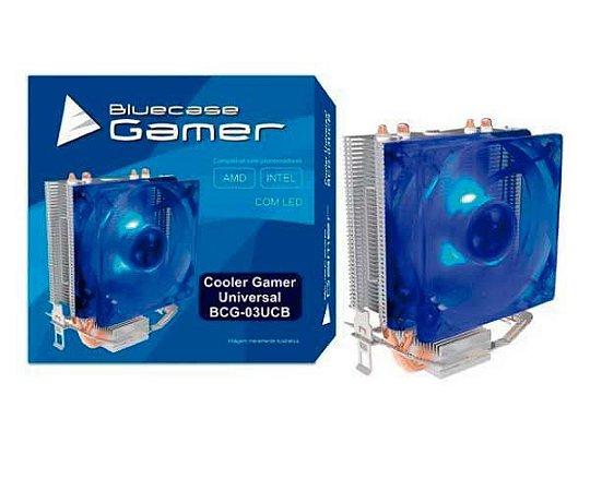 Cooler Intel e AMD em cobre com Led Azul - BCG-03UCB