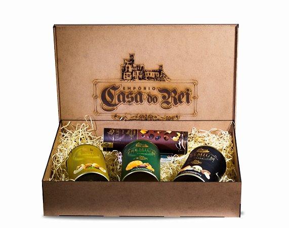 Coleção Mix Premium Latas + Caixa - Empório Casa do Rei