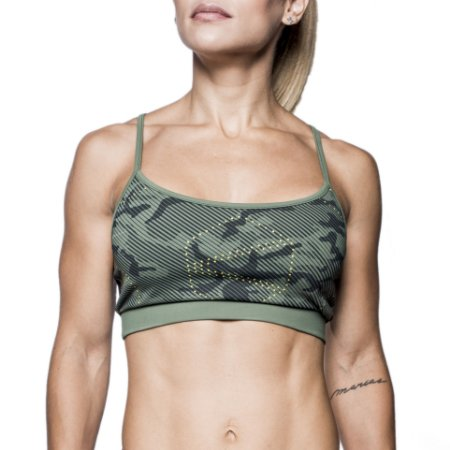 TOP MEDIUM SUPPORT GREEN CAMO