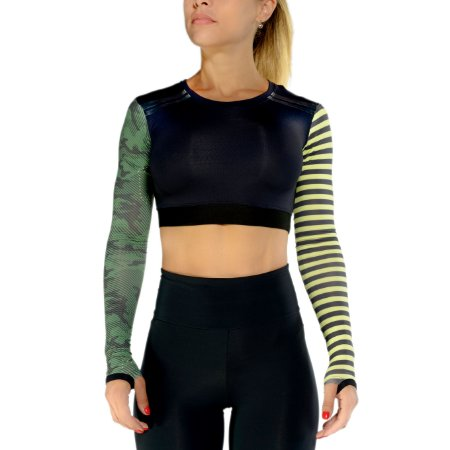 CROPPED LONG SLEEVES - GREEN CAMO