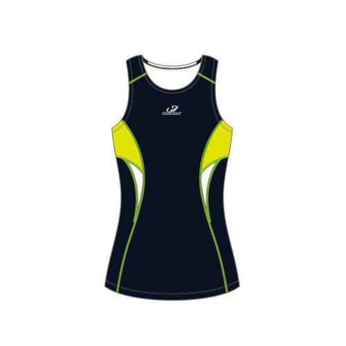 Top Triathlon Feminino - Hh3-Short Distance - Azul/Verde/Branco