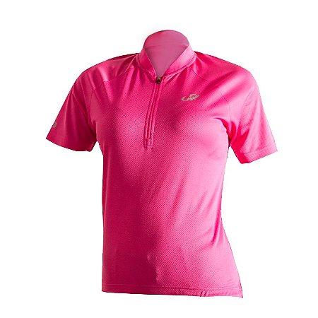 Camisa Ciclismo Aero Velo Feminina Rosa Tam M
