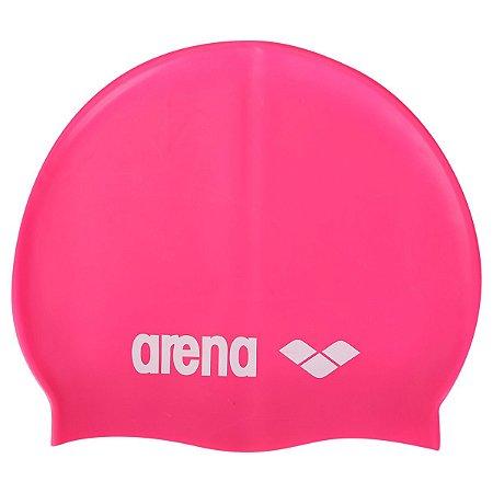Touca Arena Classic Silicone Fucsia Tam Unico