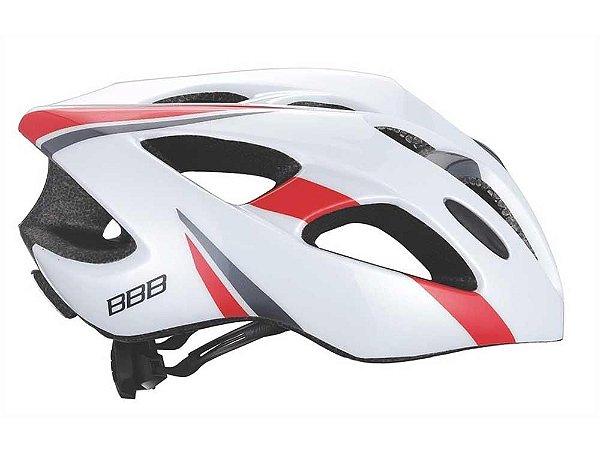 Capacete Kite Bbb Bhe-33 Branco E Vermelho