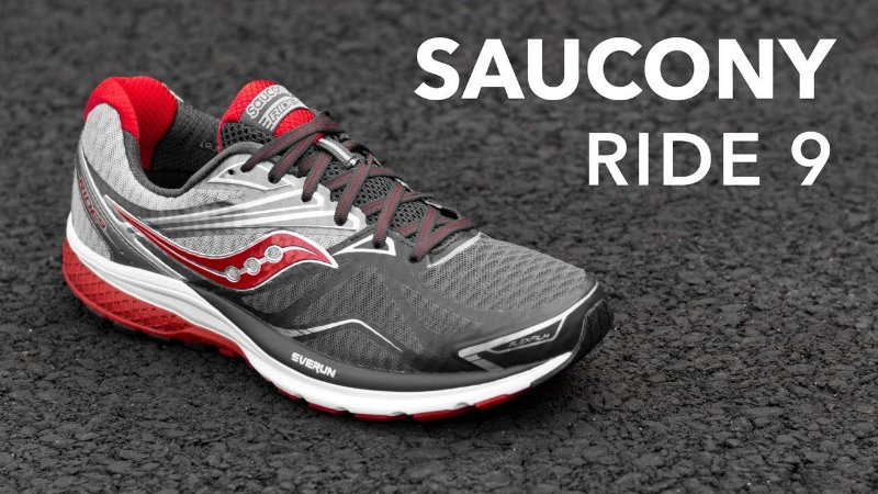 Tenis Ride 9 Saucony Gry/Cha/Red S20318-1