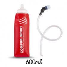 Garrafa De Silicone – Ergo Flask 600 Ml + Válvula E Tubo Curto Compressport