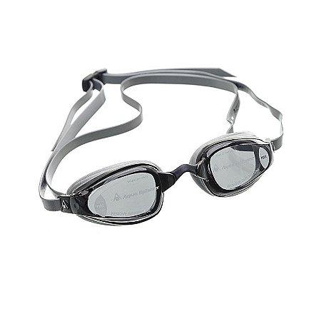 Oculos Michael Phelps K180+ Preto Prata - Lente Fume