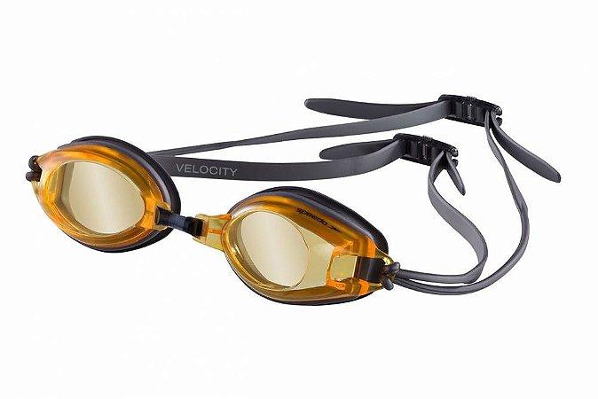 Oculos Speedo Velocity Prata Laranja