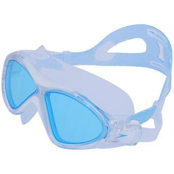 Oculos Speedo Omega Swim Mask Branco Azul