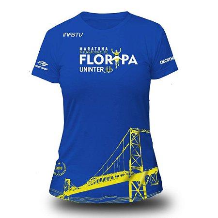 Camiseta Feminina Baby Look Maratona Floripa 2018