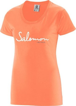 Camiseta Salomon Time to Play Tee Coral