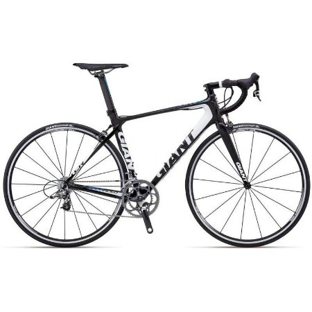 Bicicleta Giant 700 TCR Advanced 1 Carbono Branco e Azul Tam 46.5