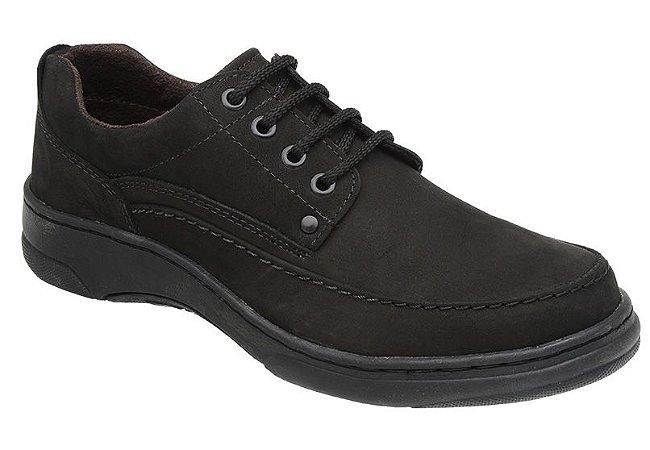 Sapato Casual Nobuck Preto