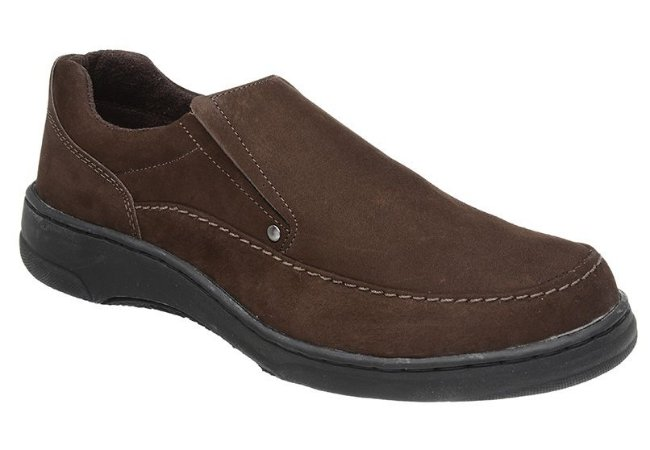 Sapato Casual Nobuck Marrom