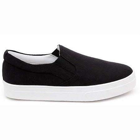 Slip On Extremamente Leve e Confortável- Cor preto