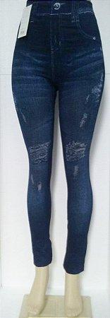 Calça Legging Jeans Detonada