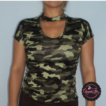 T-shirt Choker Militar