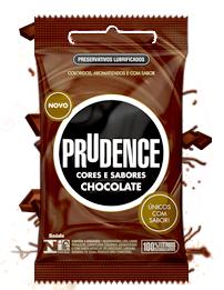 Preservativo Prudence - Cores e Sabores Chocolate - 3 un