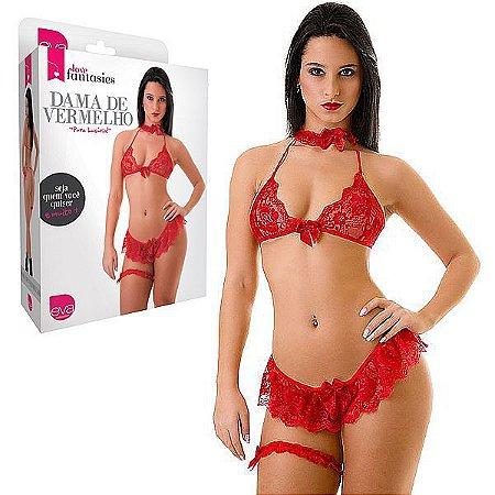 Fantasia Feminina Dama de Vermelho - Love Fantasies - 38 ao 46
