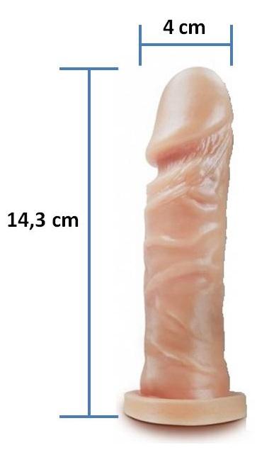 Pênis realístico Pura Luxúria 38 - Maciço - 14,3 x 4 cm