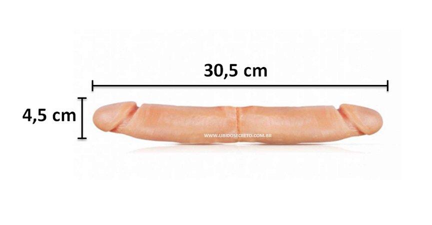 Pênis realístico Duplo 28 - Maciço - 30,5 x 4,5 cm