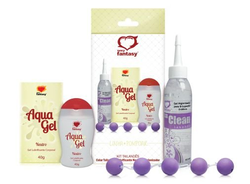 Kit para Pompoarismo Tailandês - Colar, Lubrificante e Higienizador