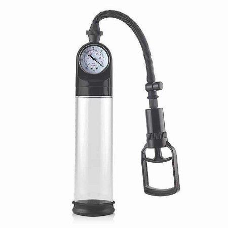Bomba Peniana Pro Solution Pump - Manômetro e Seringa