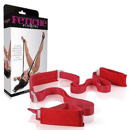 Kit de Amarras - Posição Mestre - Sexo sem Cansar - Vermelho