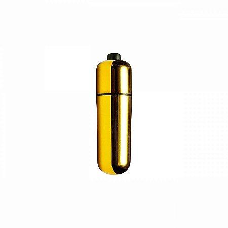 Vibrador Bullet - Capsula Ultra Potente - 10 Velocidades - Dourado