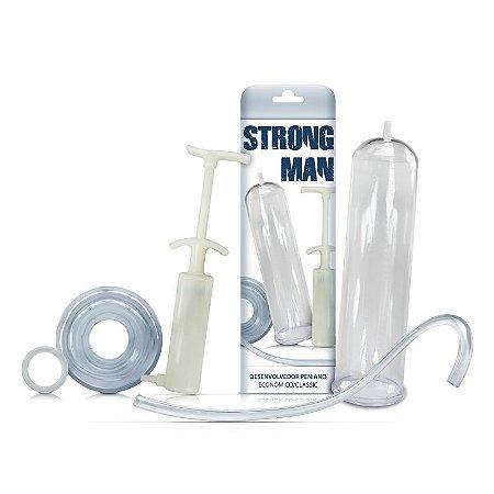 Bomba Peniana Strong Man Classic Seringa Marfim C/ Anel