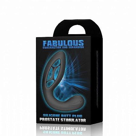 Plug Anal com Vibrador Flexible Fabulous Silicone 12 x 4,1 cm