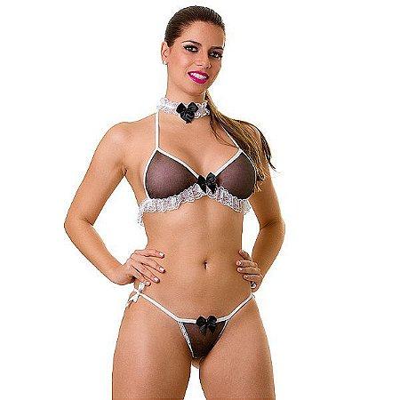 Fantasia Feminina - Garçonete - Play Girl - 38 - 46
