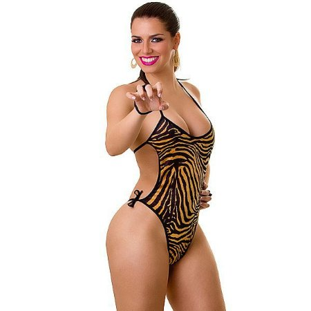Fantasia Feminina - Body Tigresa - Play Girl - 38 - 46