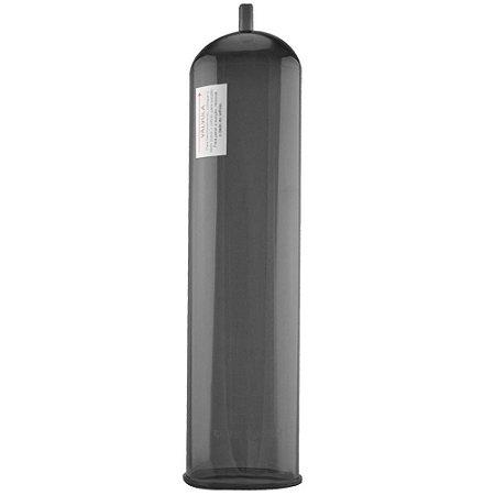 Tubo para Bomba Peniana - Acrílico - Fume - 21 x 5,5 cm