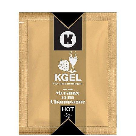 Gel para Sexo Oral Hot -  Morango com Champanhe - Sachê 5g