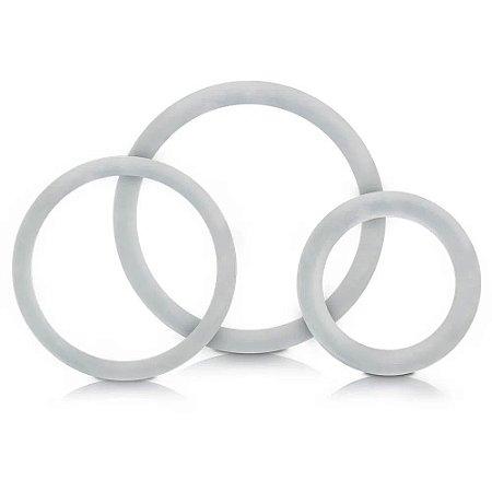 Kit com 3 Anéis Retardadores - P M G - Transparente