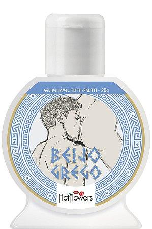 Gel Beijável Sabor Tutti-Frutti - Beijo Grego