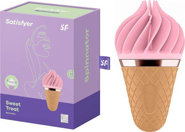 Estimulador de Clitóris Recarregável Satisfyer Sweet Treat - Sorvete Rosa