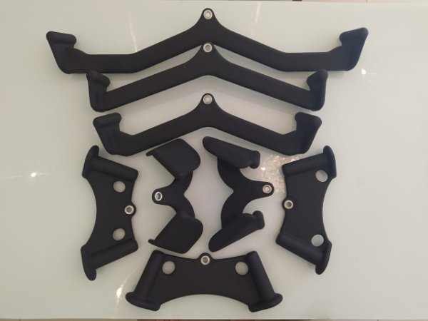 Puxadores (pulldown) costas grip, bíceps e tríceps - Kit com 8 peças