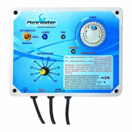 Ionizador Pure Water PW25 - piscinas até 25.000 litros