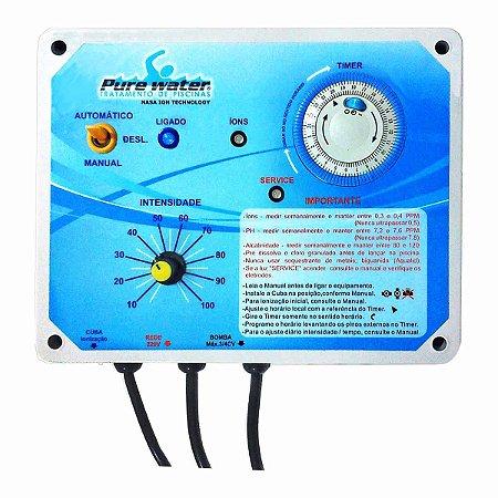 Ionizador Pure Water Pw55 - piscinas até 55.000 litros