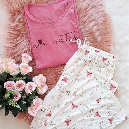 Pijama Inverno Hello Winter