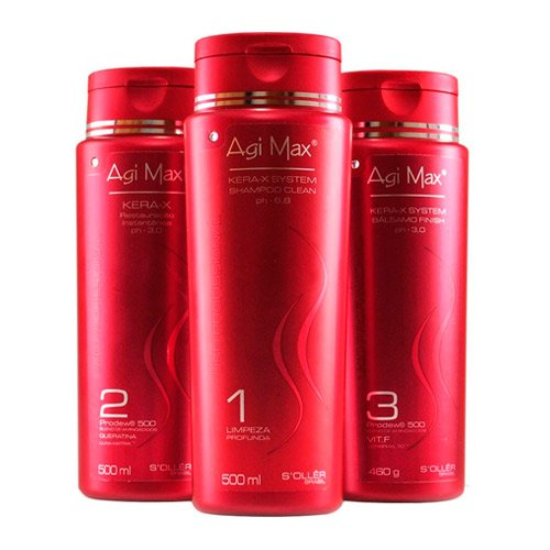 Kit Escova Progressiva Inteligente Agi Max 500ml