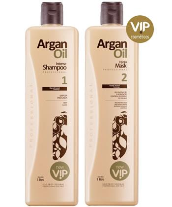 Kit Escova Progressiva Argan Oil 1L VIP