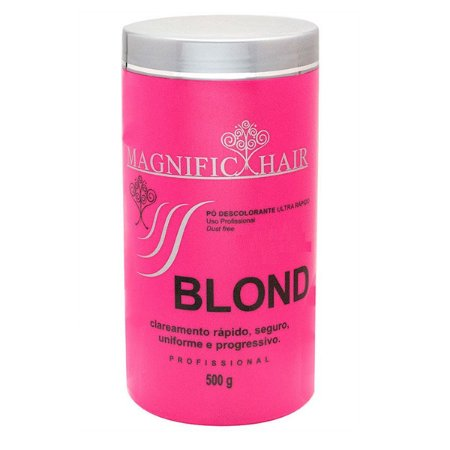 Pó Descolorante Ultra-Rápido Blond - Cabelos Sensíveis 500g - Magnific Hair