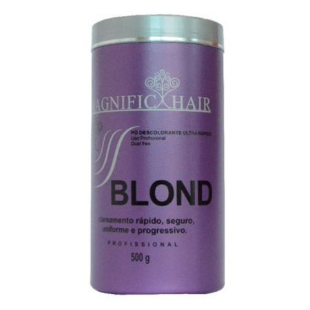 Pó Descolorante Ultra-Rápido Blond - Cabelos Fortes 500g - Magnific Hair