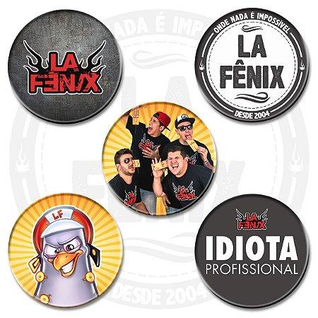Kit de Bottons Oficiais do La Fênix
