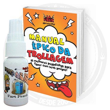Kit Pegadinha: Livro + Spray com cheiro de peido / Peido Líquido - Liquid Ass