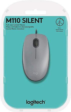 Mouse com fio USB Logitech com Clique Silencioso